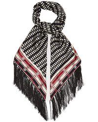 Gabriela Hearst Geometric-print Silk-twill Scarf - Black