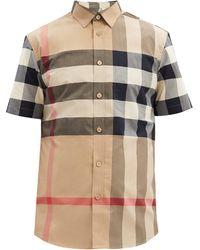 Burberry サマートン チェック コットンシャツ - マルチカラー
