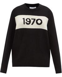 Bella Freud 1970インターシャ ウールセーター - ブラック