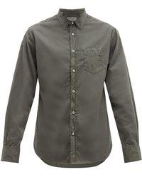 Officine Generale Lipp Cotton Shirt - Green