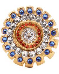 Sonia Boyajian Narcissist Crystal Embellished Brooch - Multicolour