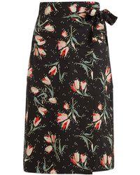 Rebecca Taylor - Ikat Tulip Print Wrap Skirt - Lyst