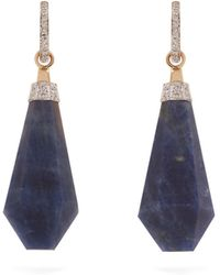 Jade Jagger - Diamond, Sapphire & Yellow-gold Earrings - Lyst