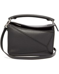 Loewe Leather Puzzle Bag - Black