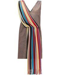 M Missoni ヴィンテージスカーフ ラメミニドレス - マルチカラー
