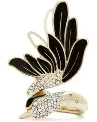 Lanvin - Crystal-embellished Swan Ring - Lyst