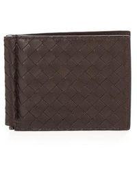 Bottega Veneta - Intrecciato Leather Hinge Wallet - Lyst