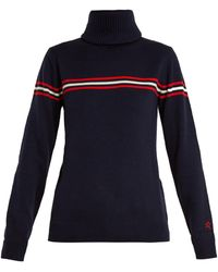 Perfect Moment - Orelle Striped-intarsia Roll-neck Wool Sweater - Lyst