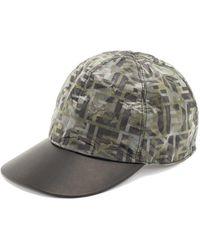 Fendi - Casquette en nylon à imprimé camouflage FF - Lyst