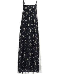 Givenchy クリスタル&エンブロイダリーロゴ ドレス - ブラック