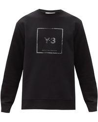 Y-3 - リフレクティブロゴ コットンスウェットシャツ - Lyst