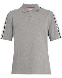 Moncler Gamme Bleu Contrast-collar Cotton-piqué Polo Shirt - Grey