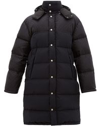 Gucci Logo-jacquard Down-filled Coat - Black