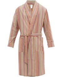 Paul Smith Signature Stripe Cotton-poplin Robe - Multicolour