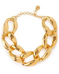 MISHO - Chunky Chain Brass Necklace - Lyst