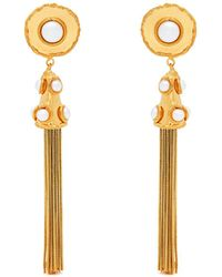 Sylvia Toledano - Pompom Faux Pearl Tassel Drop Earrings - Lyst