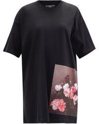 Raf Simons Ss18 ロングライン コットンtシャツ - ブラック