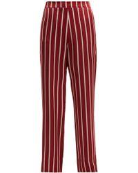 Asceno - Striped Silk Pyjama Trousers - Lyst
