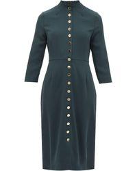 Goat ジュリエット ボタン ウールクレープドレス - グリーン