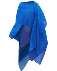 Pleats Please Issey Miyake Madame T Pleated Scarf - Blue