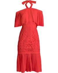 Temperley London | Berry Lace Off-the-shoulder Dress | Lyst