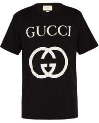 Gucci Oversized Logo T-shirt - Blue
