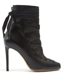 Altuzarra - Lace-up Leather Ankle Boots - Lyst