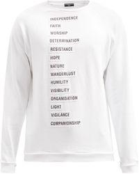 Raf Simons Ss02 コットンスウェットシャツ - ホワイト