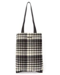 Saint Laurent - - Check Tote Bag - Mens - White Multi - Lyst