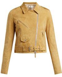 The Row - Perlin Suede Biker Jacket - Lyst