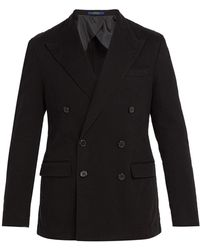 Polo Ralph Lauren - Double Breasted Cotton Twill Blazer - Lyst