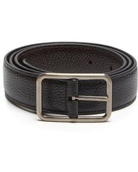 Lanvin - Reversible Grained-leather Belt - Lyst