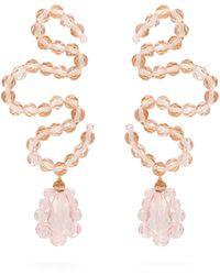Simone Rocha Wiggle Crystal-embellished Earrings - Metallic