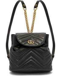 0dd26bd1617 Gucci - Gg Marmont Quilted Leather Backpack - Lyst