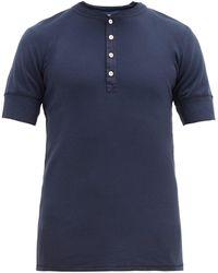 Schiesser T-shirt en coton Karl-Heinz - Bleu