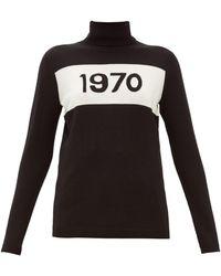 Bella Freud 1970-intarsia Wool Sweater - Black