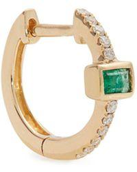 Jacquie Aiche - Diamond, Emerald & Yellow-gold Earring - Lyst