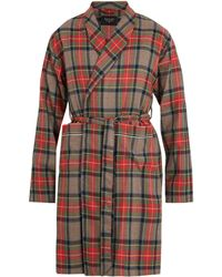Fear Of God Checked Wool Robe - Multicolour