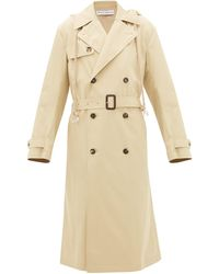 JW Anderson Hooded Cotton-gabardine Trench Coat - Natural