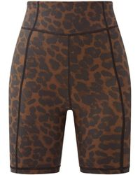 The Upside - Leopard-print Stretch-jersey Cycling Shorts - Lyst