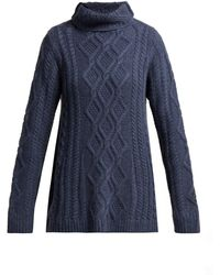 Queene And Belle - Hester Funnel Neck Cashmere Sweater - Lyst