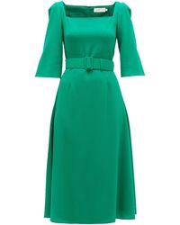 Goat ジュビリー ベルテッド クレープドレス - グリーン
