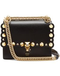 Fendi - Kan I Small Leather Cross-body Bag - Lyst