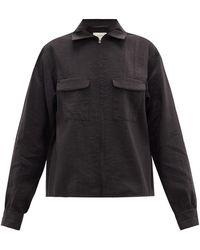 Lemaire フラップポケット シルクブレンドシャツ - ブラック
