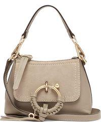 See By Chloé Joan Mini Leather Cross-body Bag - Gray