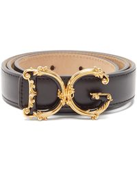 Dolce & Gabbana - バロック モノグラムバックル レザーベルト - Lyst