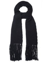 Stella McCartney - Fringed Wool And Mohair-blend Scarf - Lyst