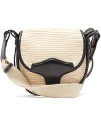 Isabel Marant Botsy Raffia Shoulder Bag - Black