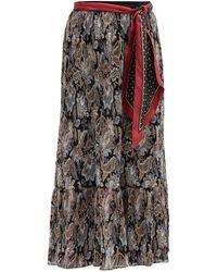 Zimmermann Ladybeetle Pleated Floral-print Georgette Skirt - Multicolour