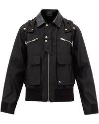 Givenchy ツイルフーデッドジャケット - ブラック